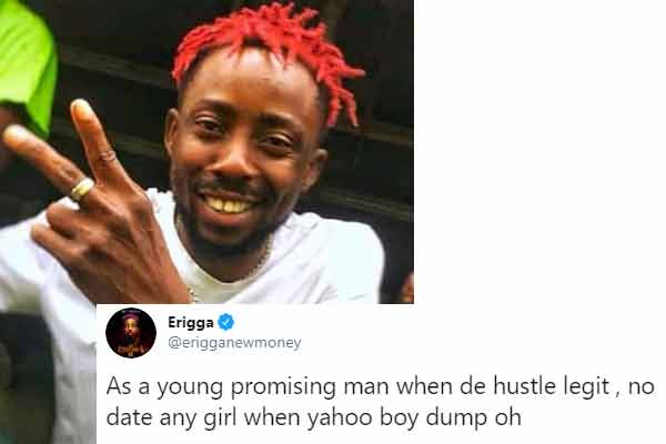 Music artist, Erigga's advise to young men out there
