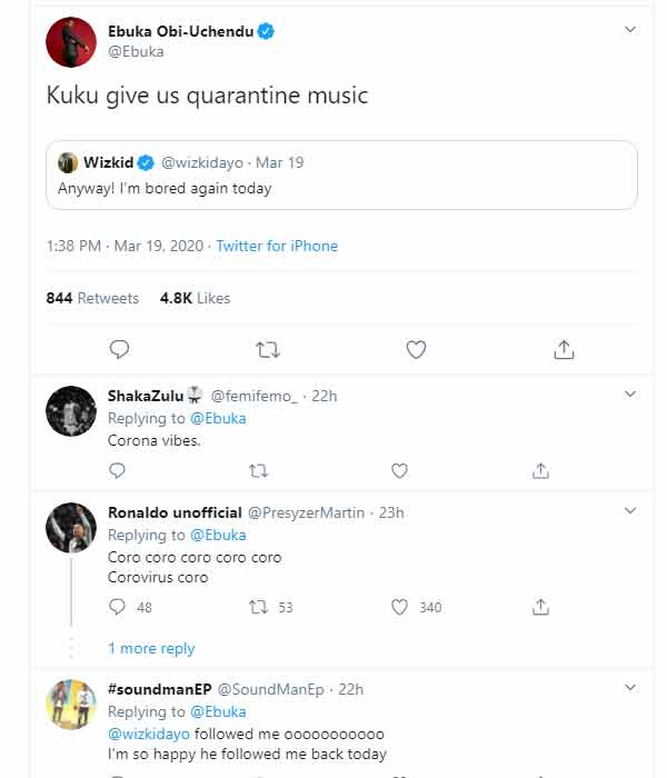 Coronavirus: fans cry out for quarantine music from wizkid