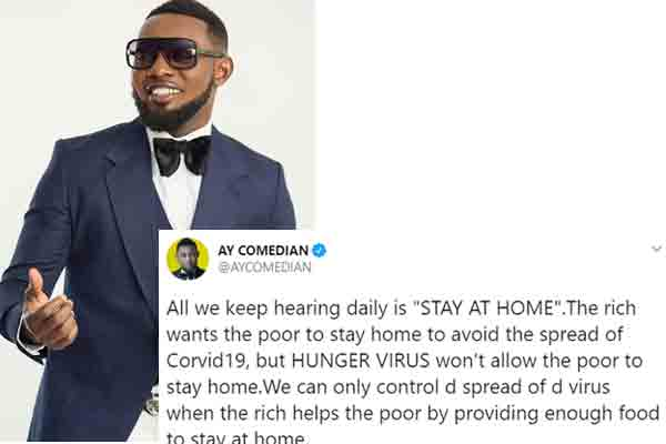 Ayo Makun – All we keep hearing daily is STAY AT HOME