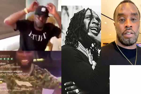 Burna boy shares live IG video with Diddy