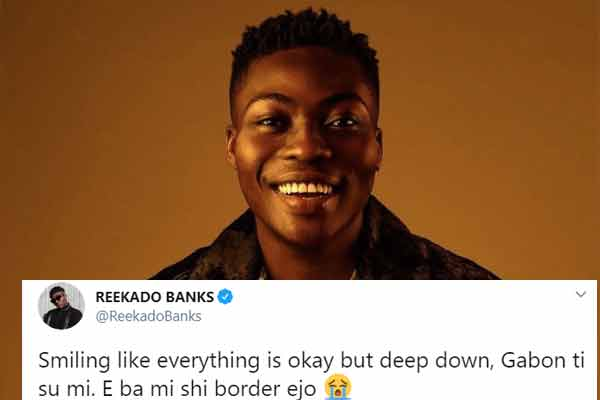 Covid-19: REEKADO BANKS is stucked in Gabon