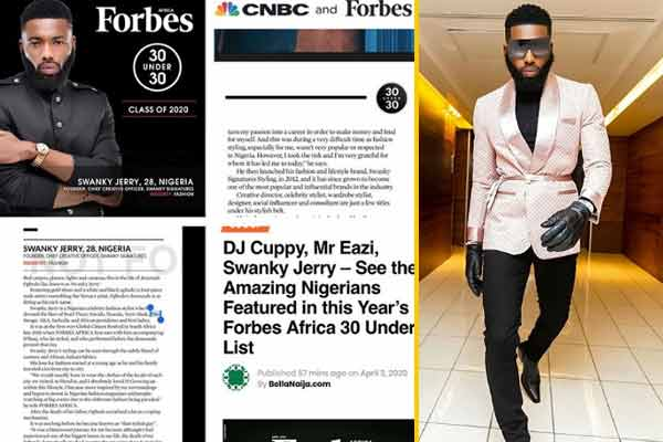Jeremiah Ogbodo listed among forbes 30 under 30