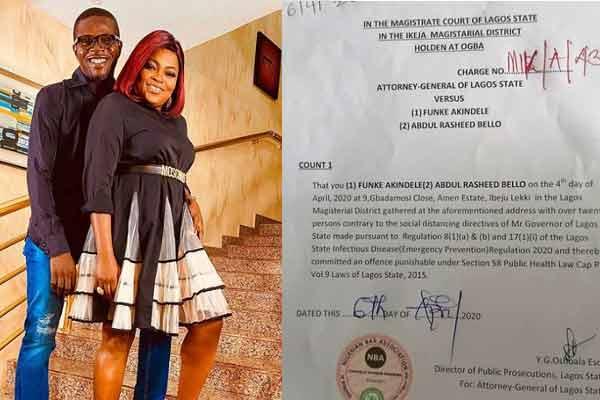 Lockdown: Funke Akindele and husband gets final judgement from court