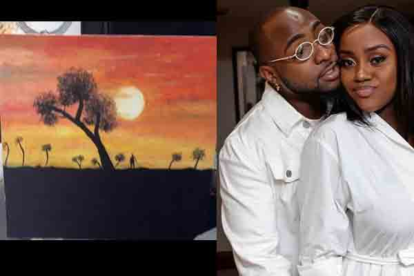 """Davido: """"My wife painted this for me yesterday """""""