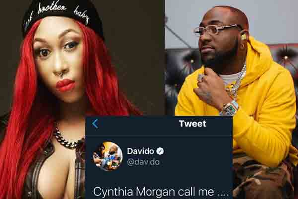 Davido offers to support Cynthia Mogan's come back