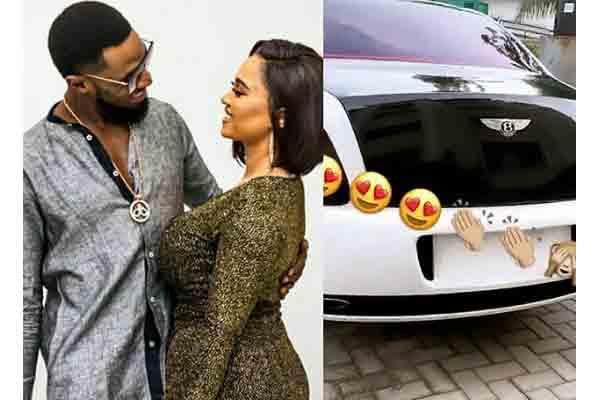 Dbanj Surprises his wife, Lineo with a Bentley