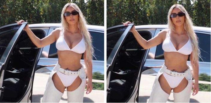 Unfortunately Kim Kardashian Has Nowhere to Wear This Baffling Outfit