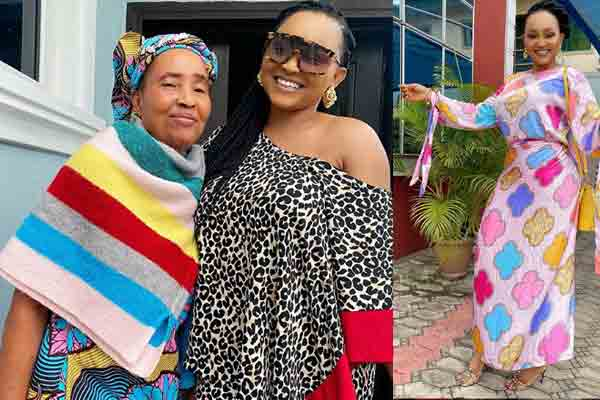 Lovely photo of mercy aigbe and mum