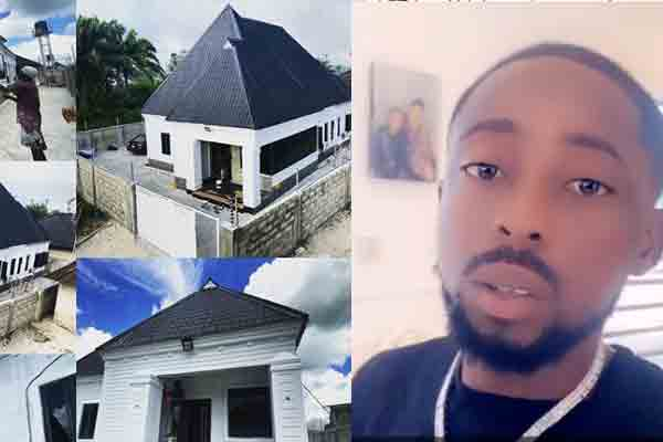 Music artist, erigga shares photos of his uncompleted mansion