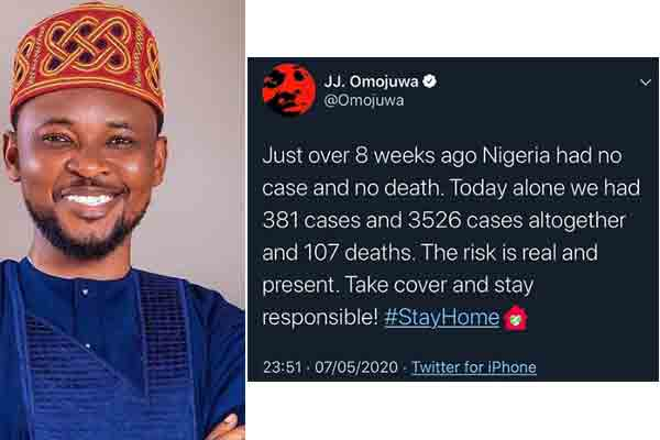 You can't afford to get tired of staying safe ….Omojuwa