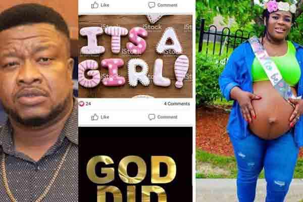 Nollywood actor, Browny Igboegwu welcomes newborn baby girl with wife, Becky after 10years of waiting